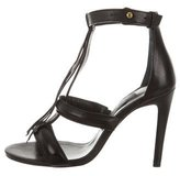 Jerome Dreyfuss Fringe-Embellished Cage Sandals w/ Tags
