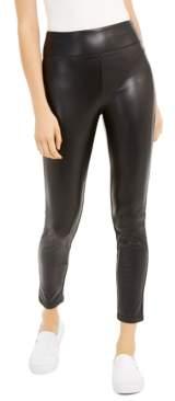 Rewash Juniors' Faux-Leather Leggings