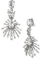 Oscar de la Renta Women's Oscar De Le Renta Radial Crystal Clip Earrings
