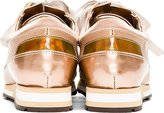 Lanvin Rose Tone Low Top Sneakers