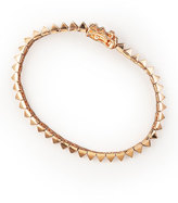 Eddie Borgo Rose Gold Pyramid Tennis Bracelet