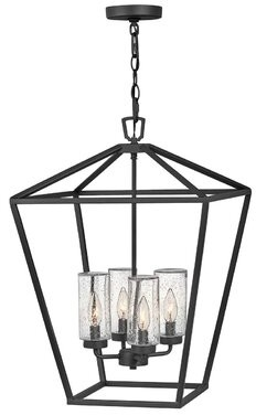 Alford Place 4-Light Outdoor Hanging Lantern Hinkley Finish: Museum Bronze, Bulb Included: No, Wattage: 60W