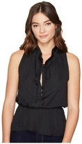 Romeo & Juliet Couture Ruffle Neck Woven Top
