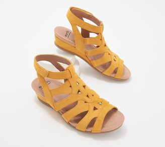 Earth Leather Wedge Sandals - Pisa Chatham