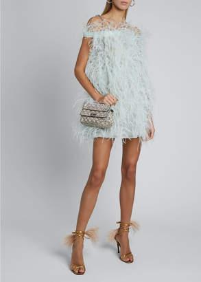 Valentino Sleeveless Ostrich Feather Cocktail Dress