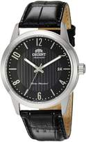 Orient Men's 'Howard' Japanese Automatic Stainless Steel and Leather Dress Watch, Color: (Model: FAC05006B0)