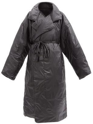 Norma Kamali Boyfriend Sleeping Bag Oversized Padded Coat - Black