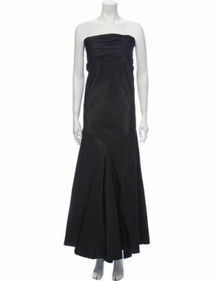 Naeem Khan Silk Long Dress Black