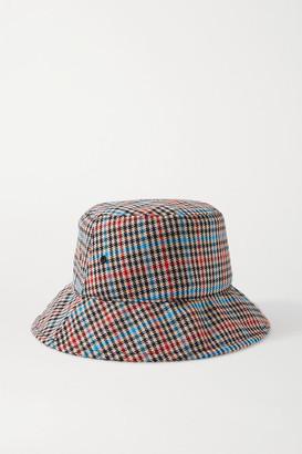 Rag & Bone Houndstooth Wool-blend Bucket Hat - Black