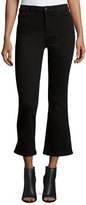 DL1961 Premium Denim Jackie Trimtone Cropped Flare-Leg Jeans, Carver
