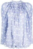 Isabel Marant Emsley floral-print textured blouse