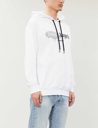 Palm Angels Logo-print cotton-jersey hoody