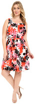 London Times Plus Size Fit and Flare w/ Front Zipper