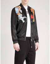 Evisu Tiger Satin Bomber Jacket