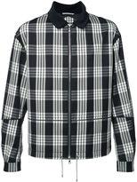 Oamc plaid zipped jacket - men - Cupro/Virgin Wool - M