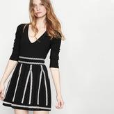 Maje Jacquard knit short skirt