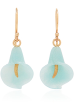 Annette Ferdinandsen Large Amazonite Cala Lilies Earrings