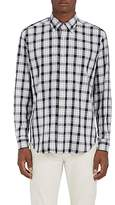 Barneys New York MEN'S PLAID COTTON BUTTON-DOWN SHIRT