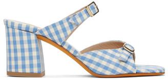 Maryam Nassir Zadeh Blue and White Gingham Una Sandals