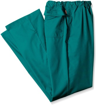 Orange Standard Men's Big-Tall Dockweiler Scrub Pant with Zip Fly and Drawstring