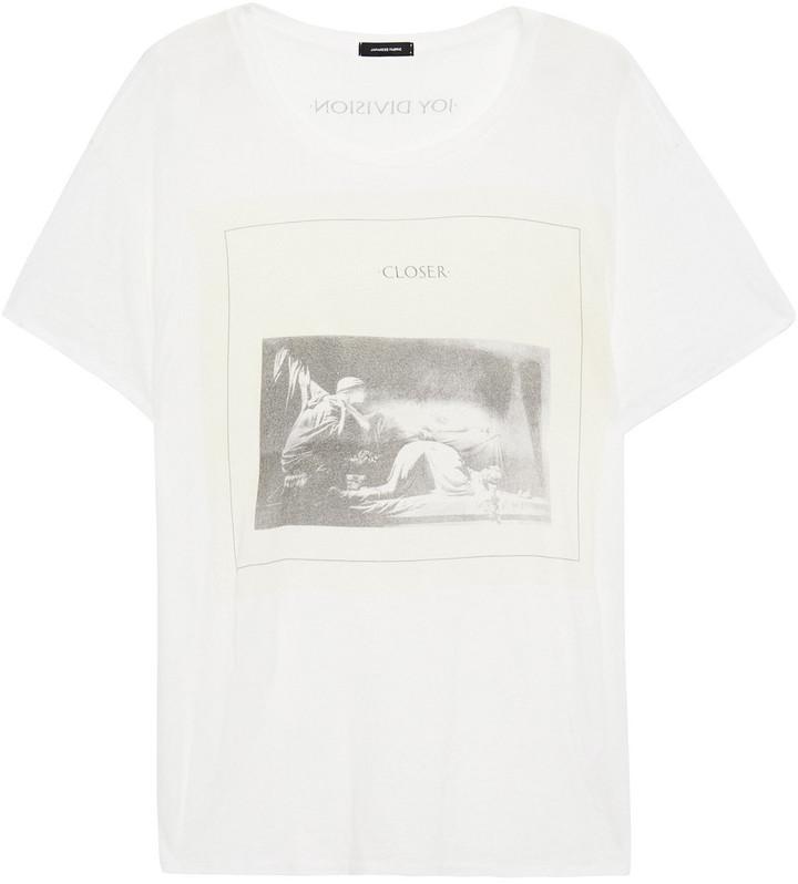 R 13 Printed Slub Cotton And Cashmere-blend Jersey T-shirt