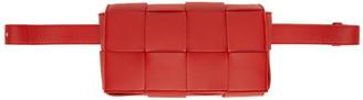 Bottega Veneta Red The Belt Cassette Pouch