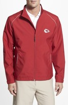 Cutter & Buck Men's Big & Tall Kansas City Chiefs - Beacon Weathertec Wind & Water Resistant Jacket