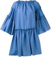 MSGM seersucker layering dress