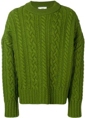 Ami Paris crew neck Cable Knit Oversize Sweater
