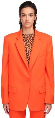 ATTICO Oversize Wool Gabardine Jacket