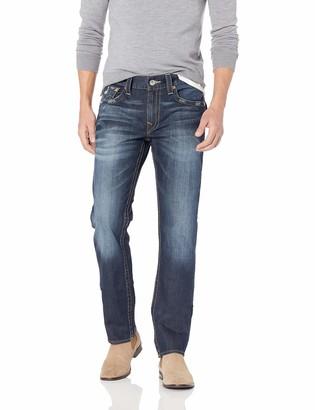 True Religion Men's Slim Straight Jean with Flap Back Pockets