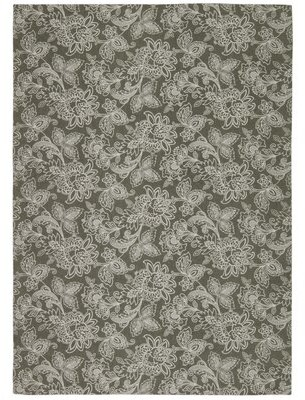 Waverly Art House Floral Handmade Stone Area Rug Rug Size: Rectangle 5' x 7'