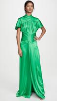 Victoria Beckham Contrast Panel Floor Length Dress