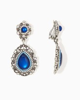 Charming charlie Elegant Stone Clip-On Earrings