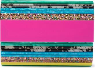 Olga Berg Stacer Acrylic Clutch