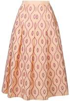 Marni embroidered pattern skirt