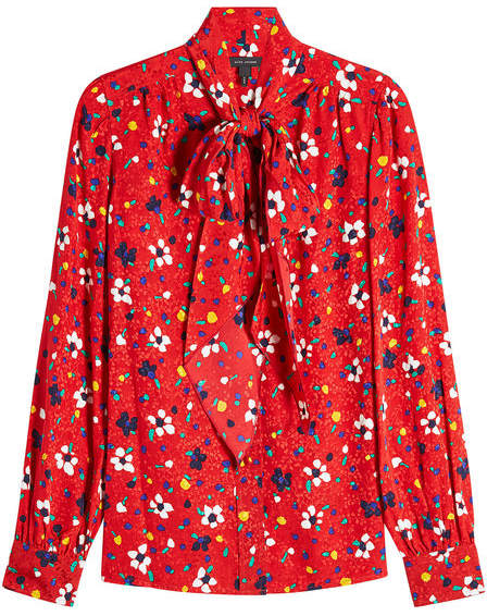 Marc Jacobs Printed Silk Blouse