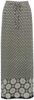 M&Co Tile print border maxi skirt