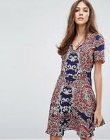 Oasis Paisley Print Skater Dress