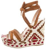 Gianvito Rossi Cheyenne Wedge Sandals w/ Tags