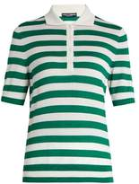 Dolce & Gabbana Short-sleeved cashmere and silk-blend polo top