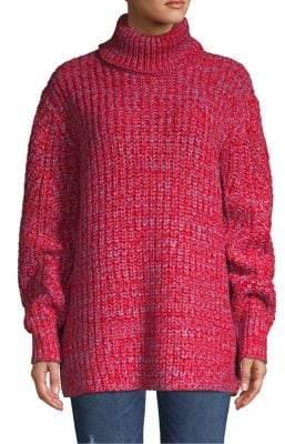 Hudson York & Turtleneck Ribbed Sweater