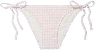 Solid & Striped The Charlotte Gingham Stretch-seersucker Low-rise Bikini Briefs