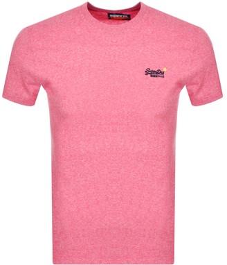 Superdry Short Sleeved T Shirt Pink