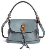 Chloé Small Owen Calfskin Leather Satchel - Blue