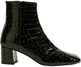 Karen Millen Block Heeled Ankle Boots, Black
