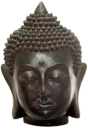 "Oriental Furniture 6"" Thai Buddha Head Statue"