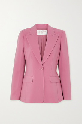 Michael Kors Collection Wool-blend Crepe Blazer - Pink