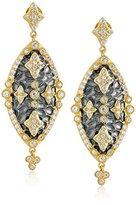 "Freida Rothman Madison"" Two Tone Embellished Marquise Maltese Drop Earrings"