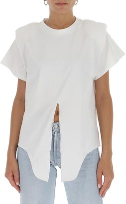 Isabel Marant Padded Shoulder Knotted T-Shirt